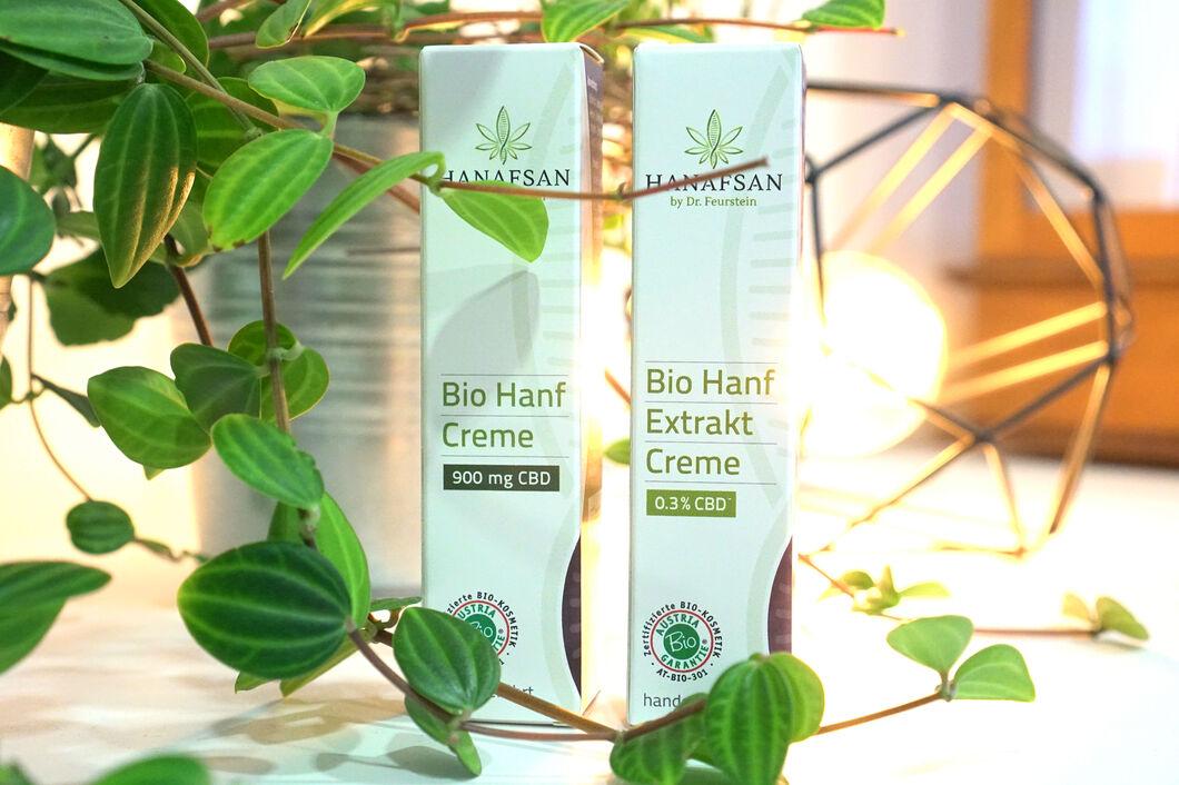 BIOKosmetik Hanfcreme Hanfextraktcreme Packung Pflanze